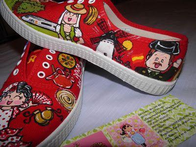Zapatillas pintadas a mano El gran mundo de Oz