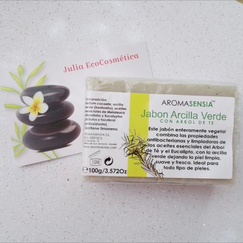 JABÓN NATURAL DE ARCILLA VERDE - Aromasensia Julia Ecocosmética