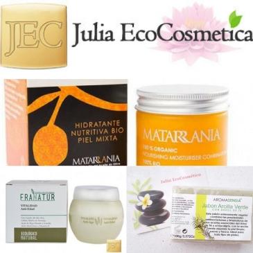 Julia ecocosmetica Cosmética natural matarrania, franatur,aromasensia