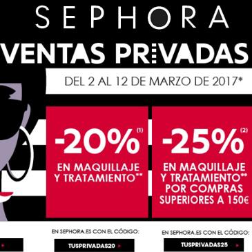 Ventas privadas Sephora 2017